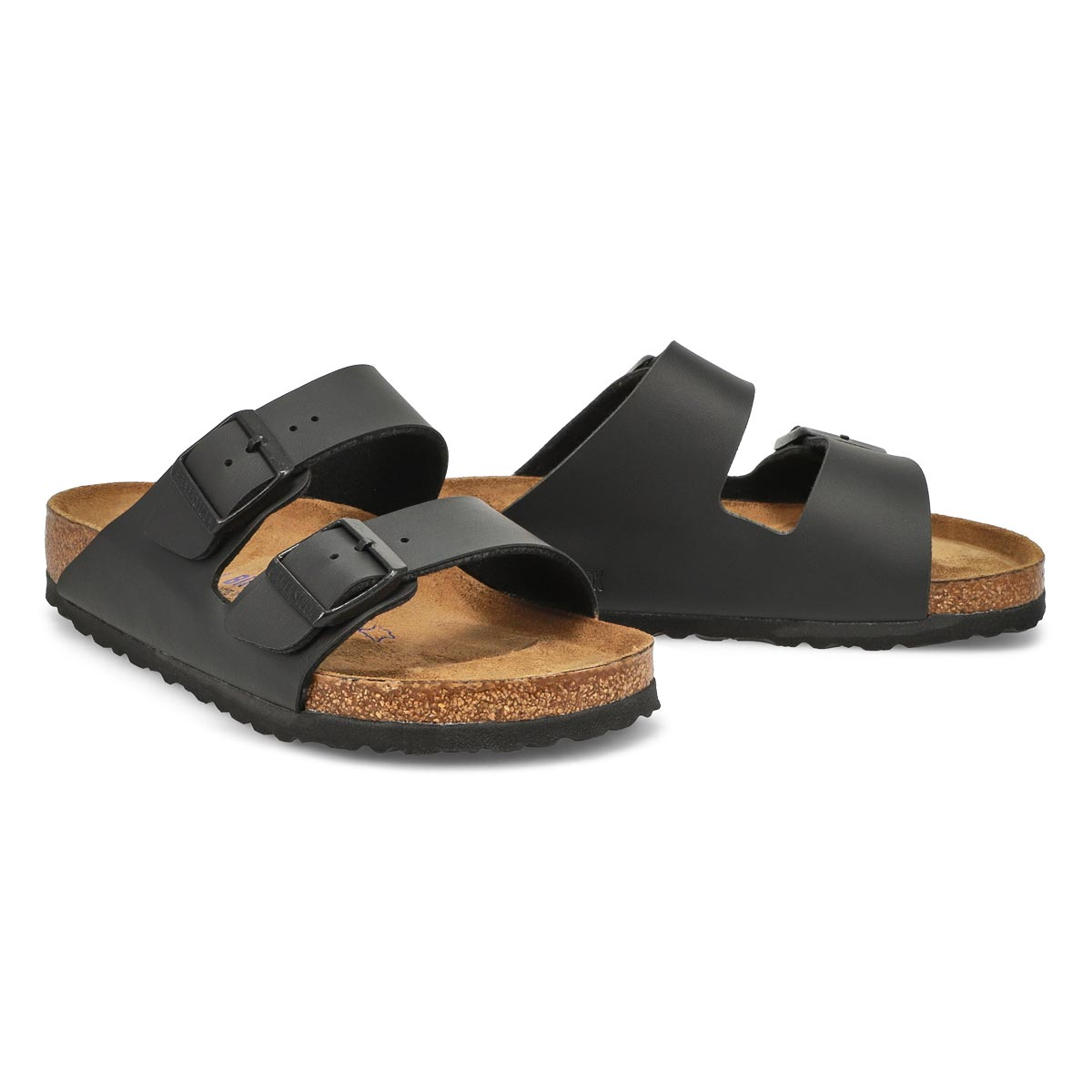 Lds Arizona BF black 2 strap sandal - SF