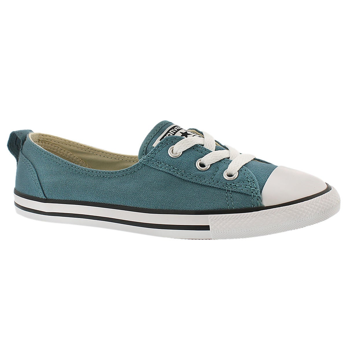 Lds CT A/S Ballet Lace sea blue slip on