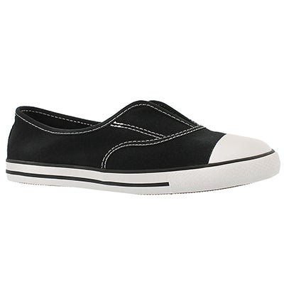 Converse Women's CT ALL STAR COVE CANVAS black slip ons