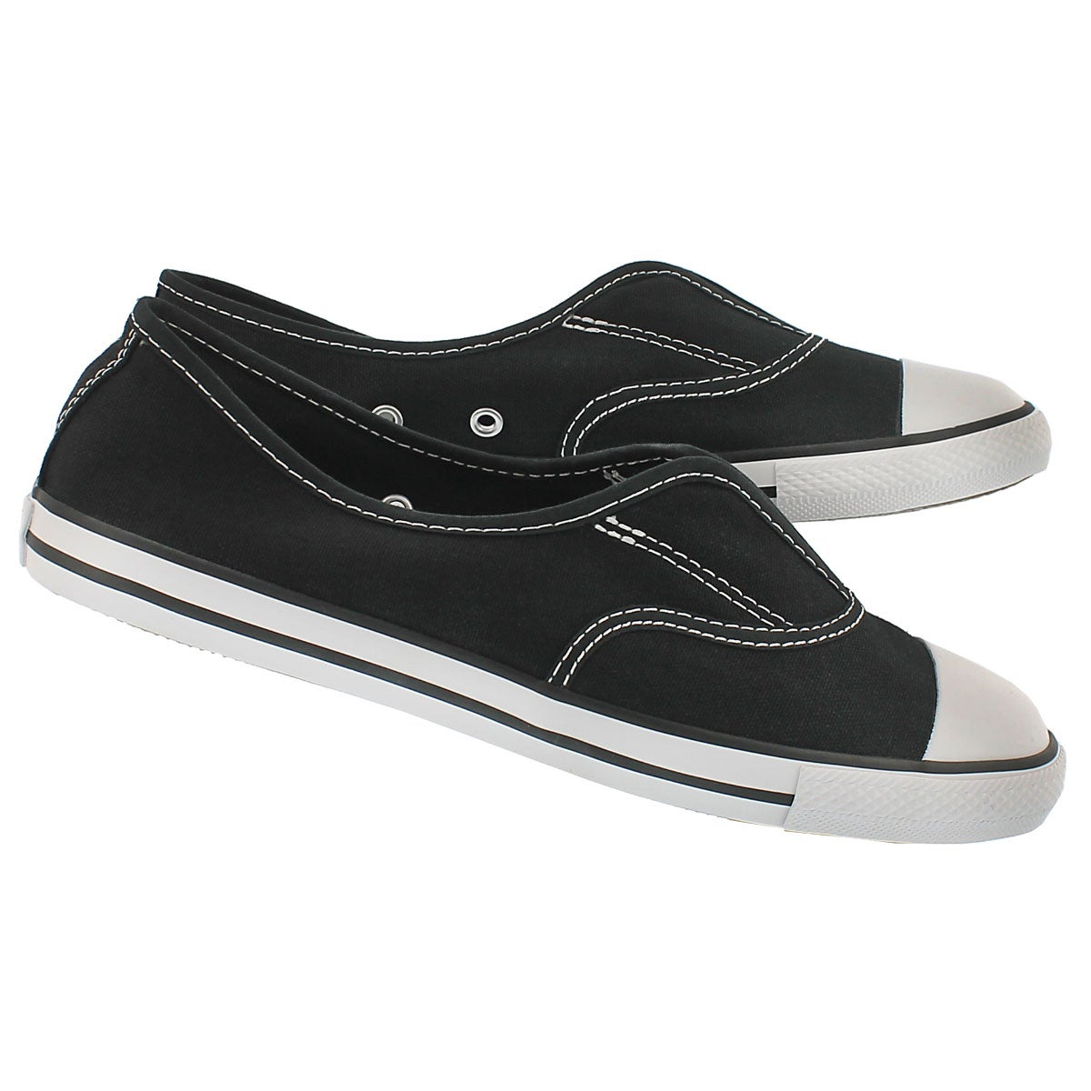 Lds CT AllStar Cove Canvas black slip on