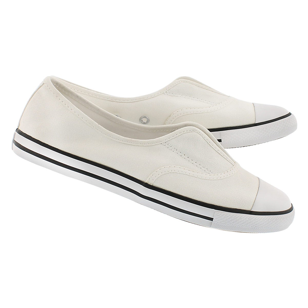 Lds CT AllStar Cove Canvas wht slip on