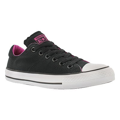Converse Women's CT ALL STAR MADISON black/pink ox sneakers