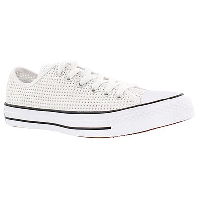 Converse Women's CT PERFORATED CANVAS white/black oxfords
