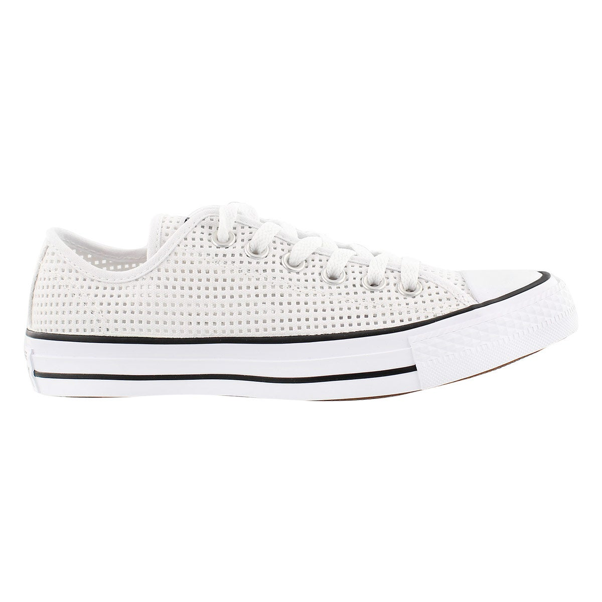 Lds CT Perfed Canvas wht/blk oxford