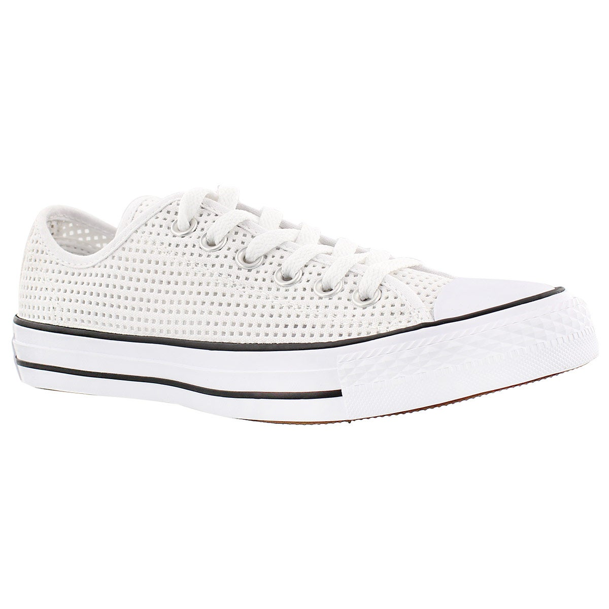 Women's CT PERFORATED CANVAS white/black oxfords