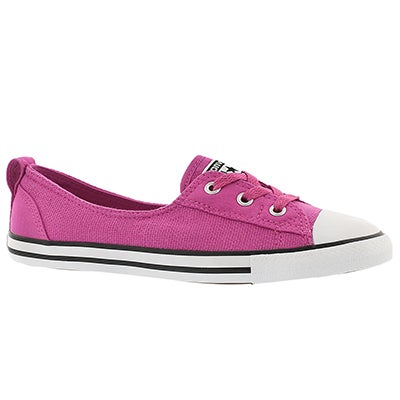Converse Women's CT ALL STAR BALLET LACE plstc pnk slip ons
