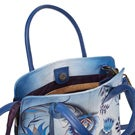 Printed lthr Bewitching Blues conv. tote