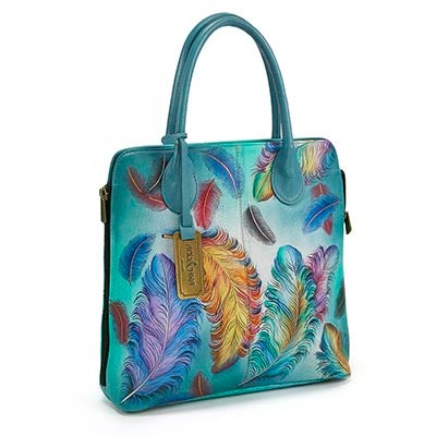 Anuschka Women's FLOATING FEATHERS convertible tote