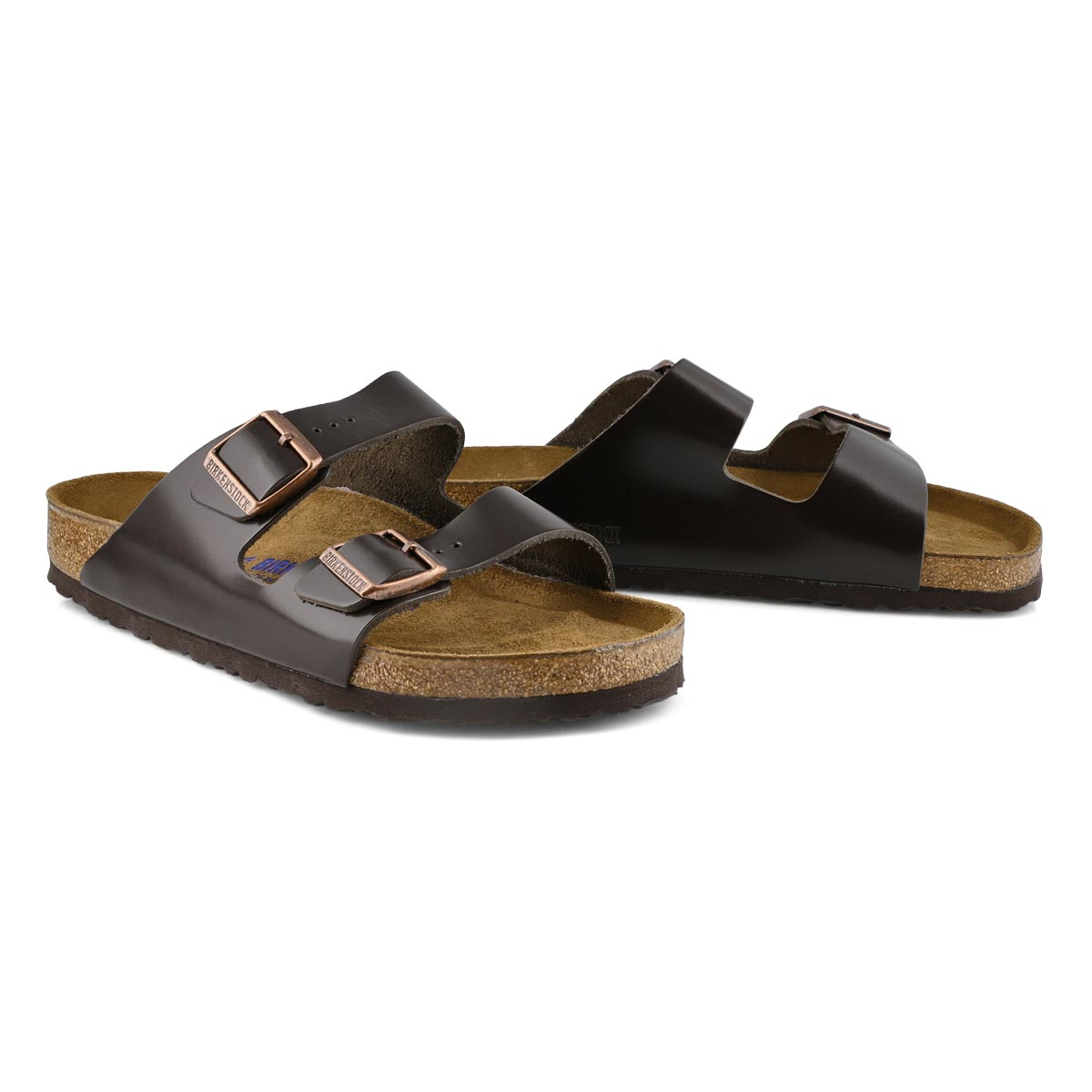 Men's ARIZONA LTR brown 2 strap sandal