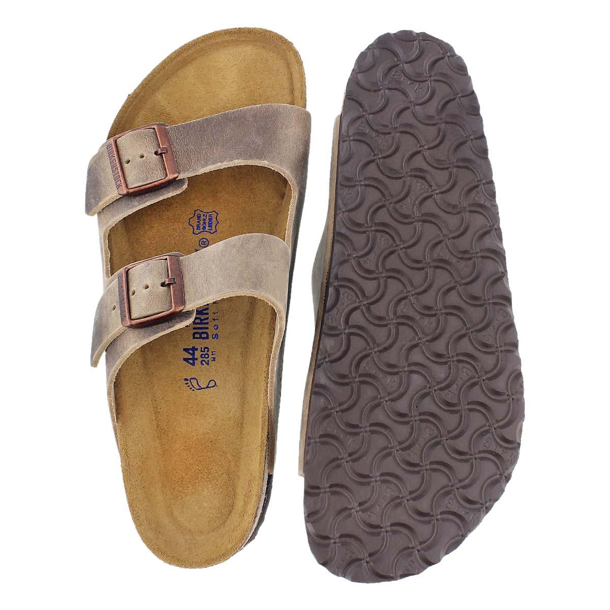 birkenstock arizona tobacco soft footbed
