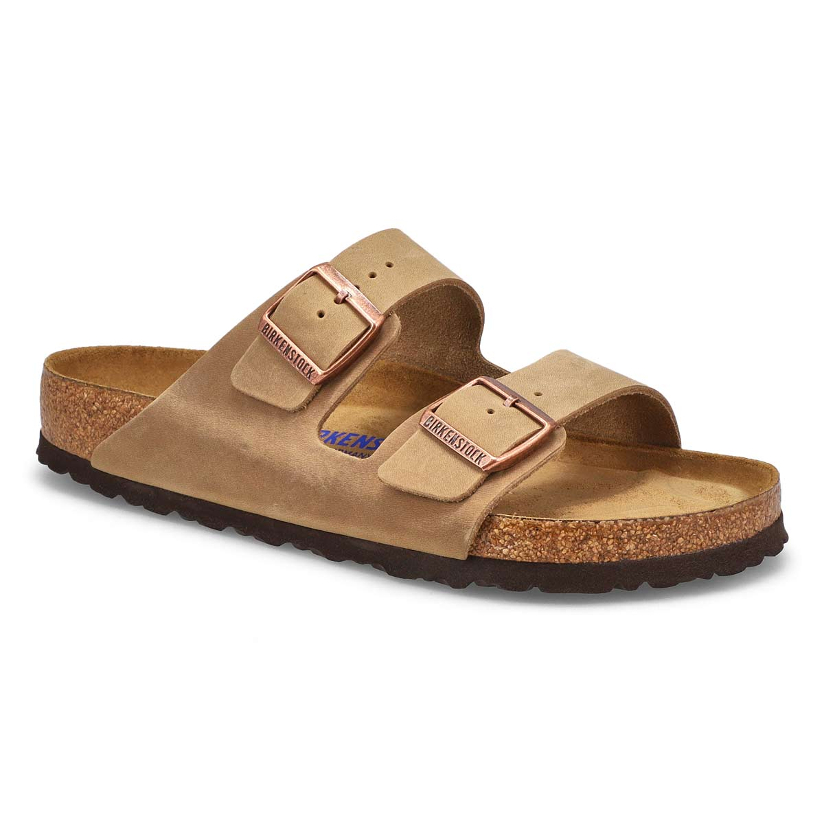 Men's ARIZONA SF tobacco 2 strap sandals