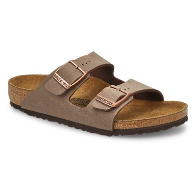 Birkenstock Kids' ARIZONA mocha 2 strap sandals - Narrow