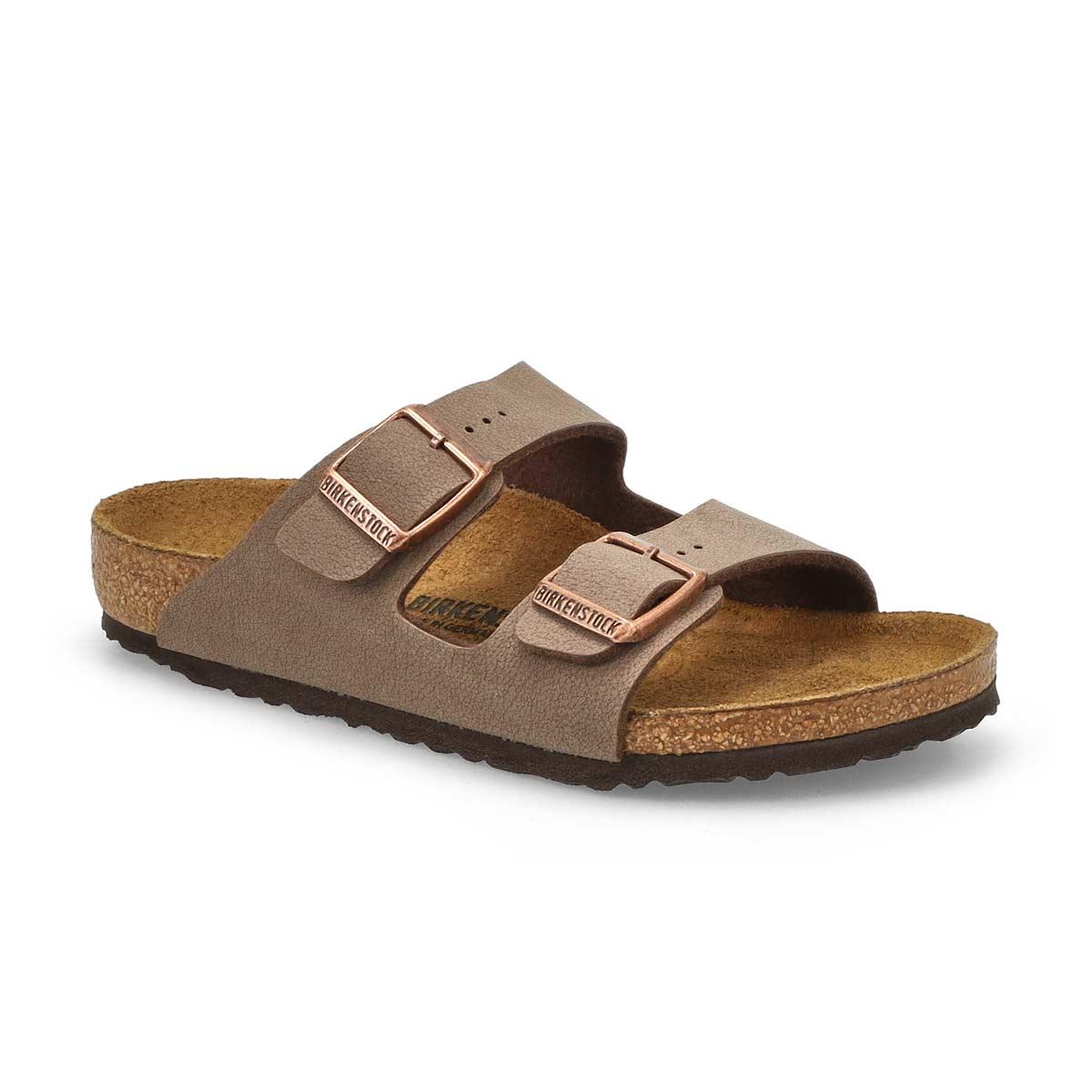 Kids' ARIZONA mocha 2 strap sandals - Narrow