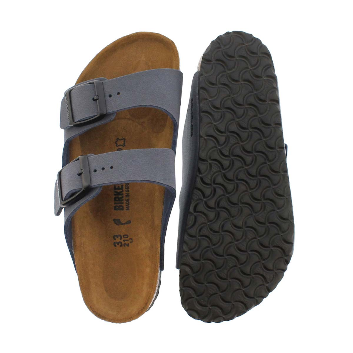 Kds Arizona navy BF 2 strap sandal-N