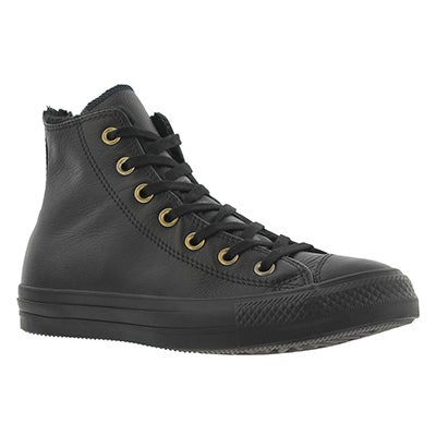 Converse Women's CT ALL STAR black mono lined hi tops