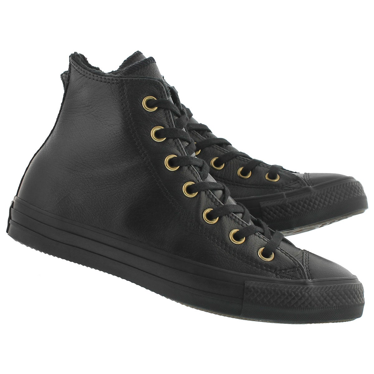 Lds CT All Star blk mono lined hi top
