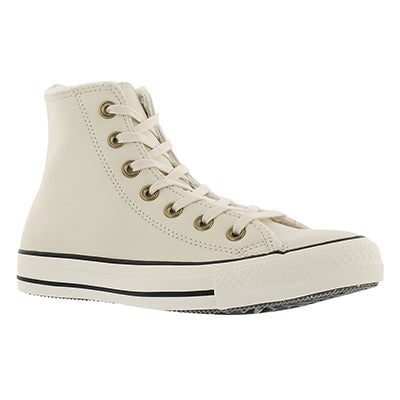 Converse Women's CT ALL STAR white lined hi tops