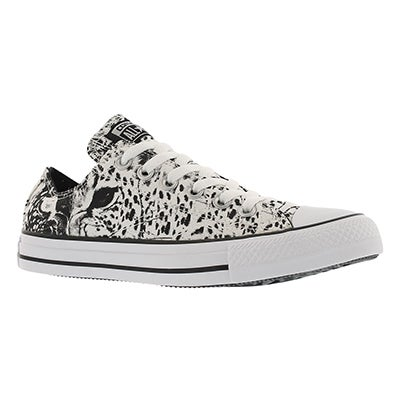 Converse Women's CT ALL STAR ANIMAL PRINT wht/blk sneakers