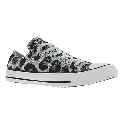 Converse Women's CT ALL STAR ANIMAL PRINT blu/blk sneakers