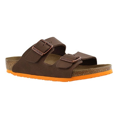 Birkenstock Kids' ARIZONA nebula brown sandals - Narrow
