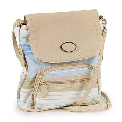 Lds Sandra blue/chino striped backpack