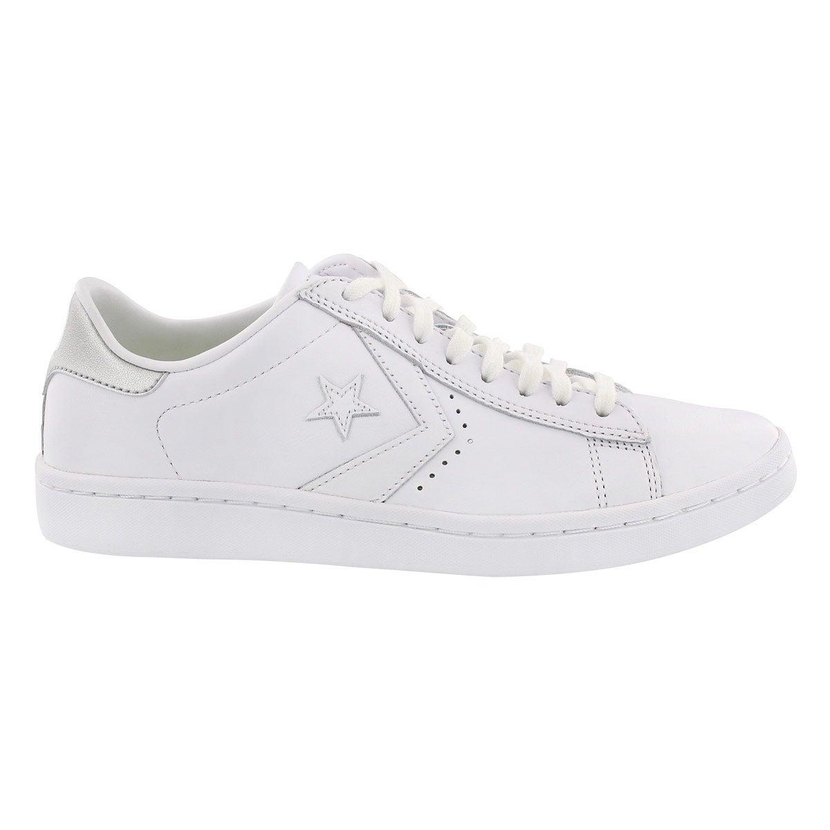 Lds PL LP wht/slvr metallic sneaker