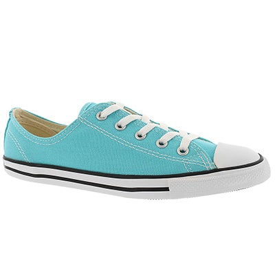 Converse Women's CT ALL STAR DAINTY CANVAS cyan oxfords