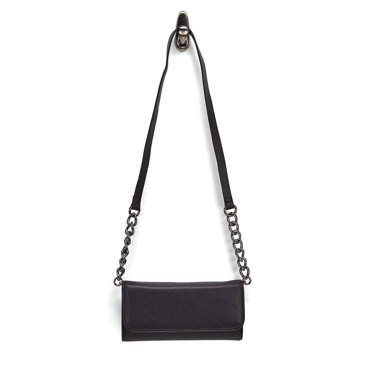 Lds Mattie blk envelope cross body bag