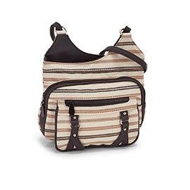 MultiSac Women's PRIME CALSSIC black stripe cross body bag