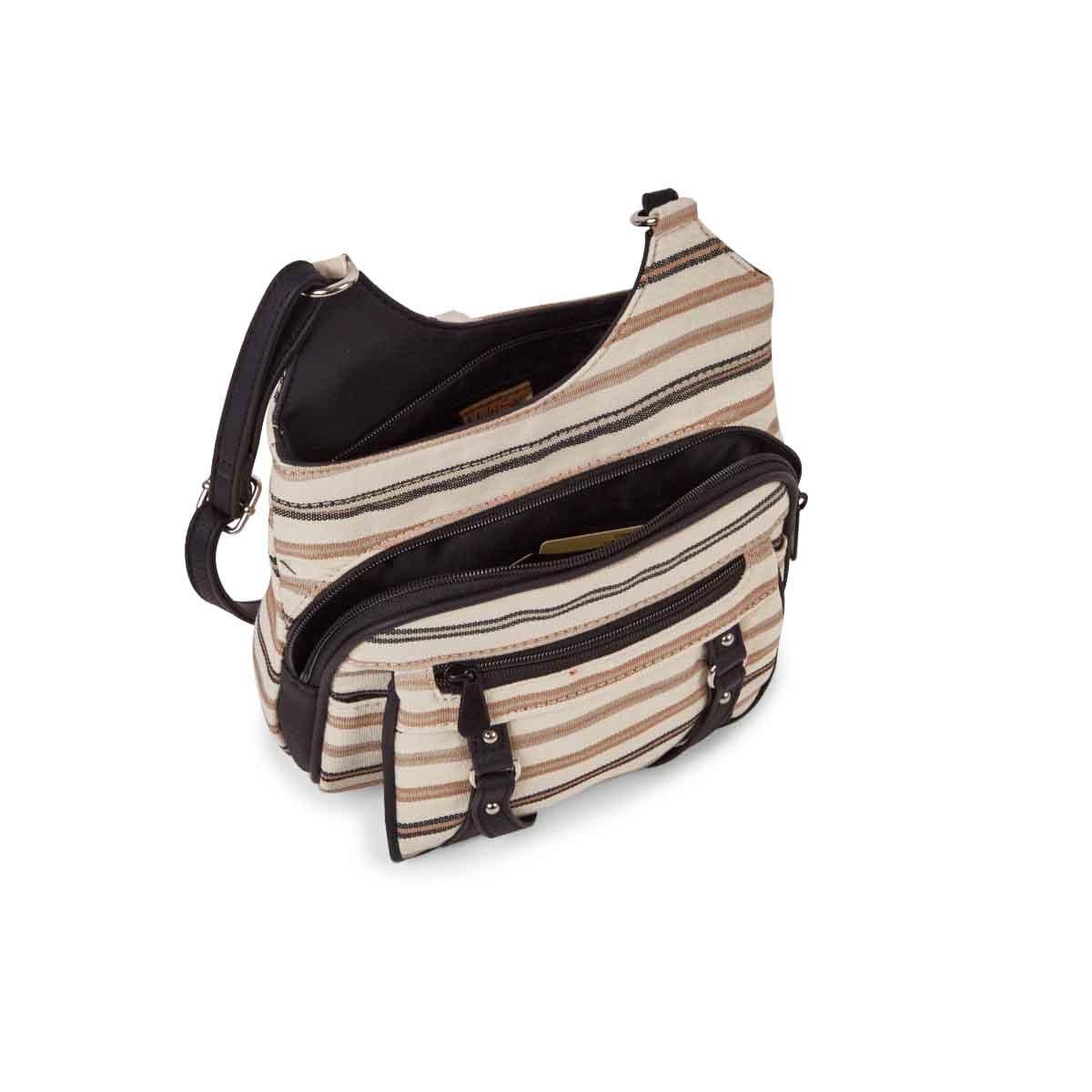 Lds Prime Classic black stripe crossbody