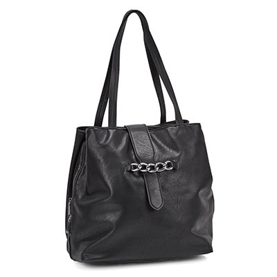 Lds Summer Tri-Compartment black tote