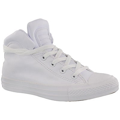 Lds CT A/S Brookline Mid wht snkr