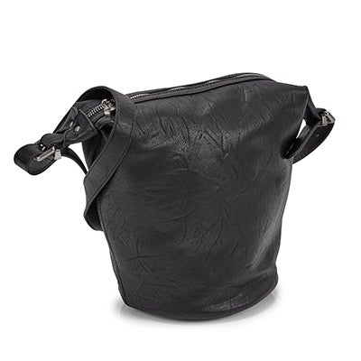 Co-Lab Women's 5580 SUMMER BUCKET black hobo bag