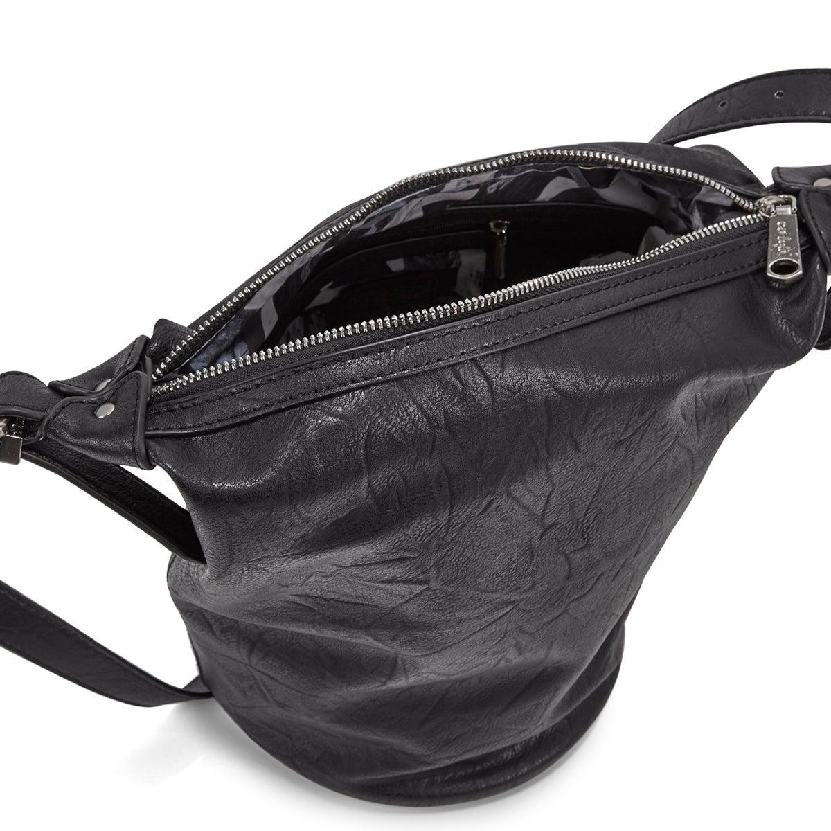 Lds Summer Bucket black hobo bag