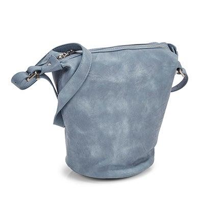 Lds Summer Bucket blue hobo bag