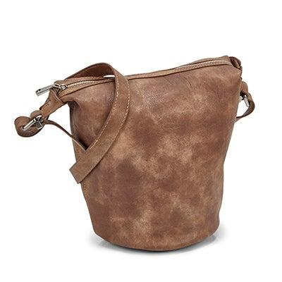 Lds Summer Bucket taupe hobo bag