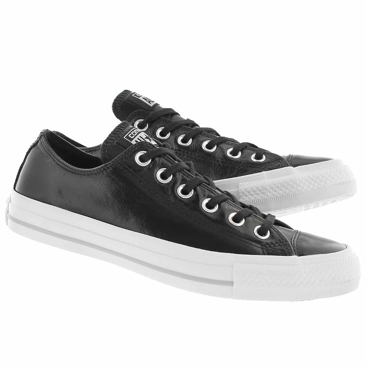 Lds CT A/S Classic Crinkled blk sneaker