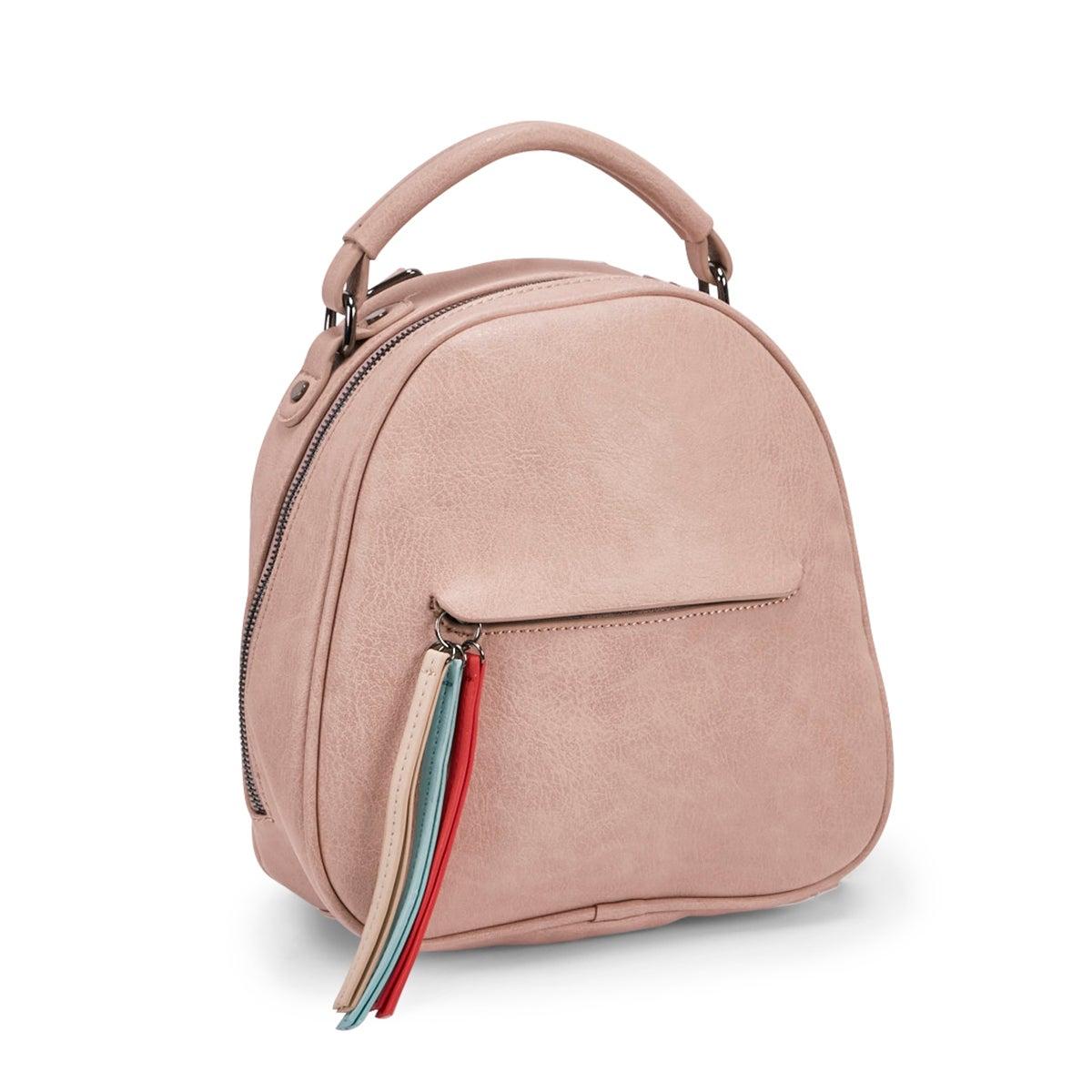 Women's 5582 TASSEL blush backpack