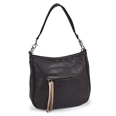 Lds Tassel black hobo/cross body bag