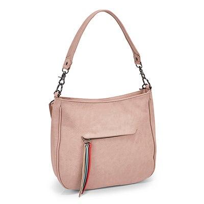 Lds Tassel blush hobo/cross body bag
