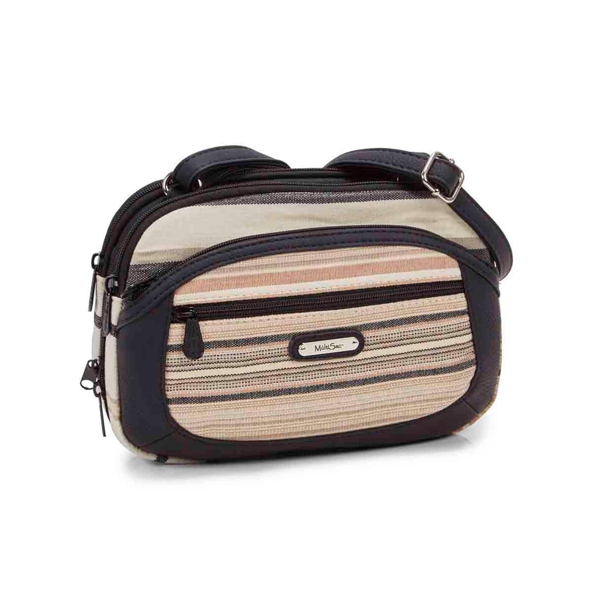 Women's TERABYTE natural/black crossbody bag