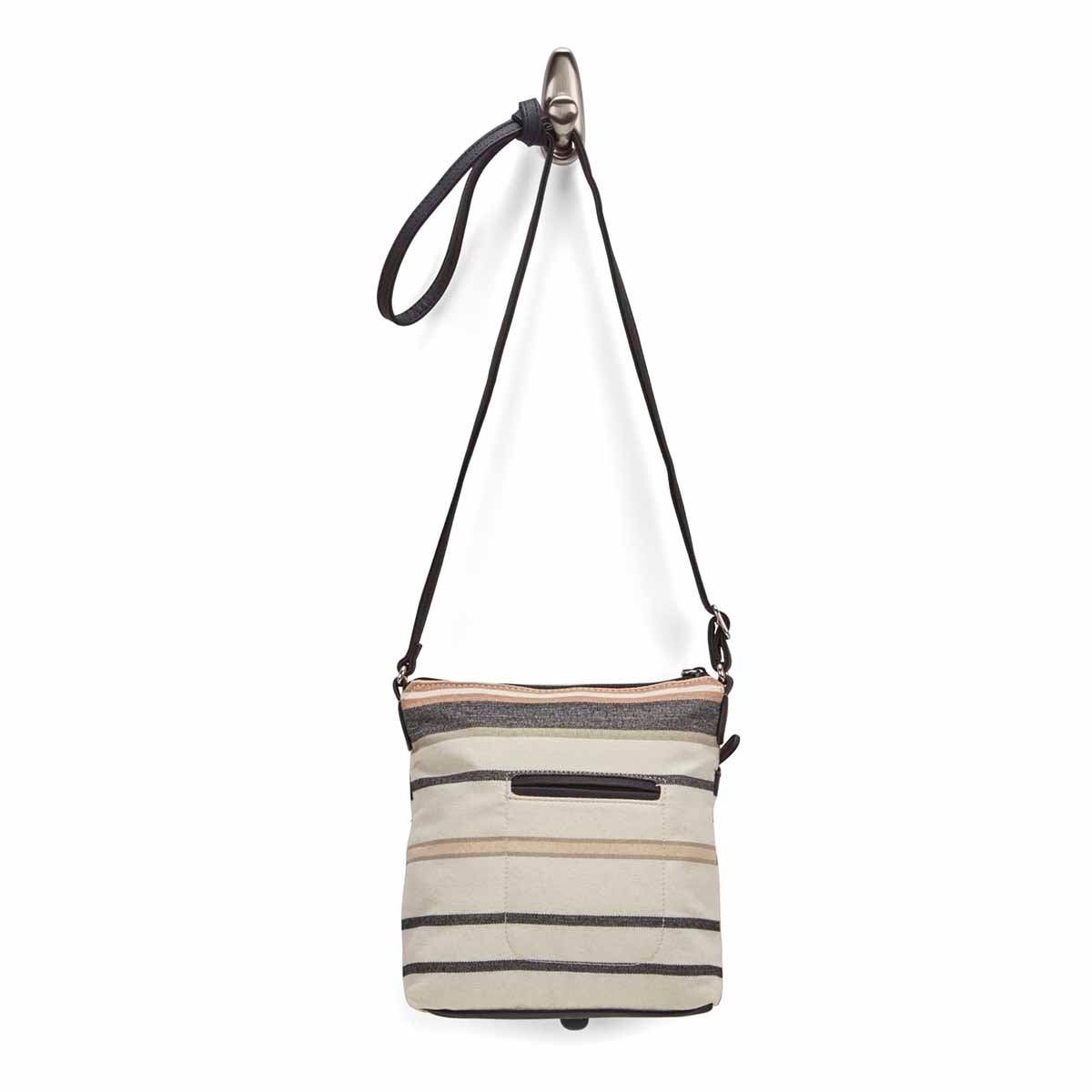 Lds Mini Multi Flare nat/blk cross body