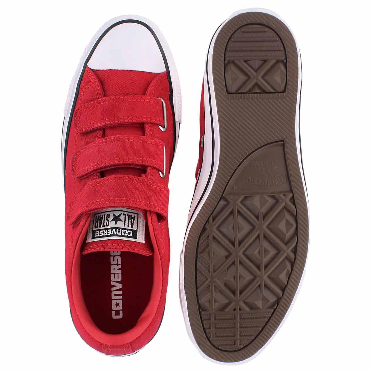 Lds CTAS 3V red hook & loop sneaker