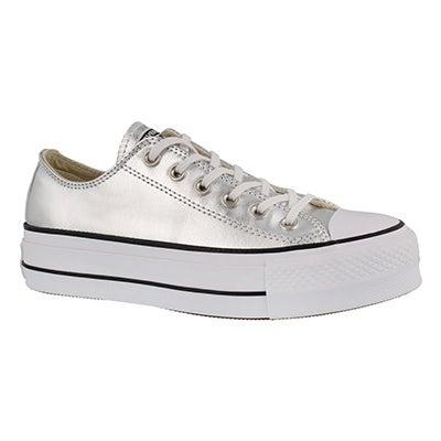 Lds CT AS Lift Mtlc gld platform sneaker