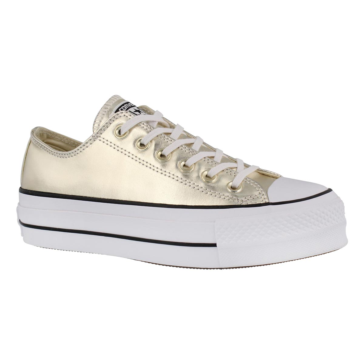 Women's CT ALL STAR LIFT METALLIC gold sneakers