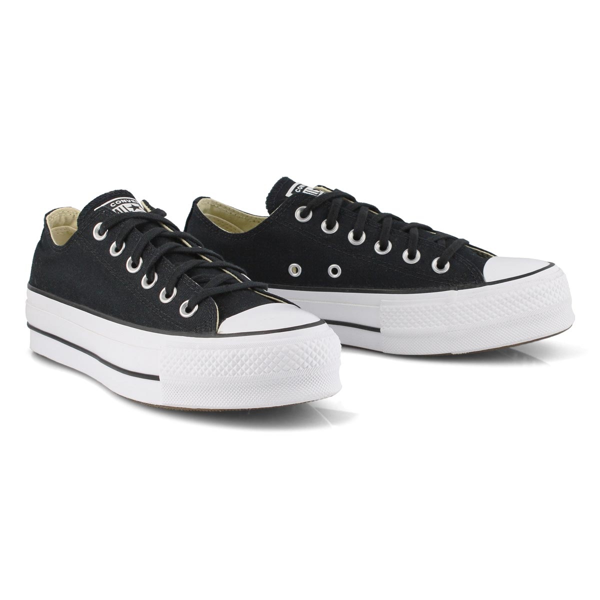 Lds CT AS Lift blk/wht platform sneaker