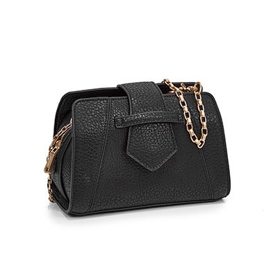 Co-Lab Women`s 5604 MINI SADDLE black cross body bag