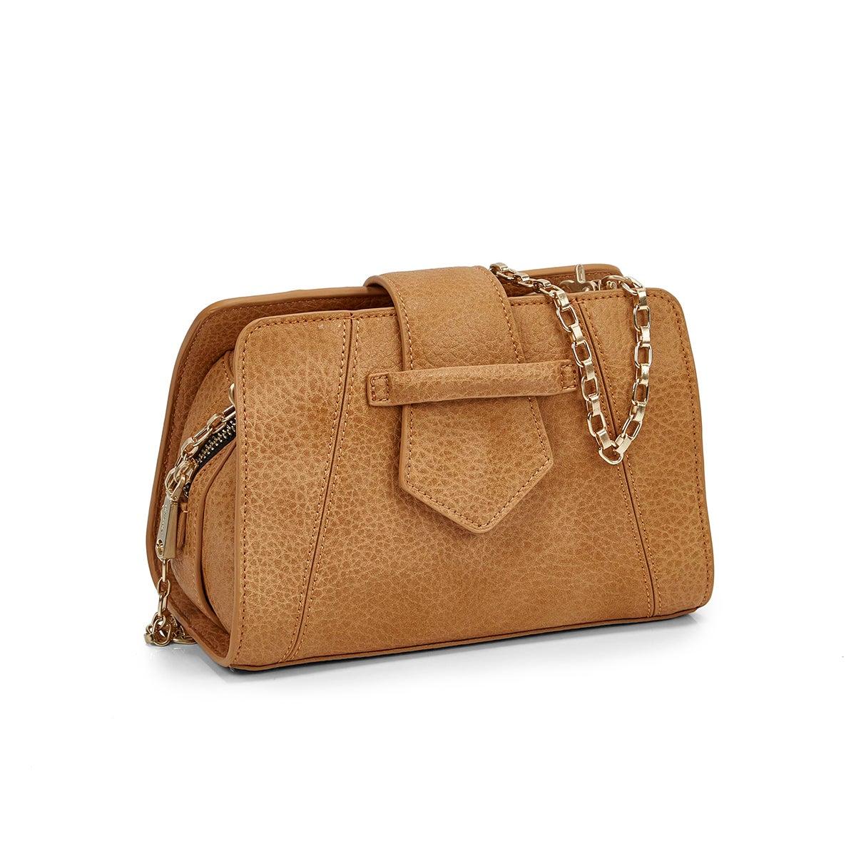 Women's 5604 MINI SADDLE camel cross body bag
