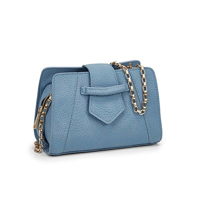 Co-Lab Women`s 5604 MINI SADDLE light blue cross body bag