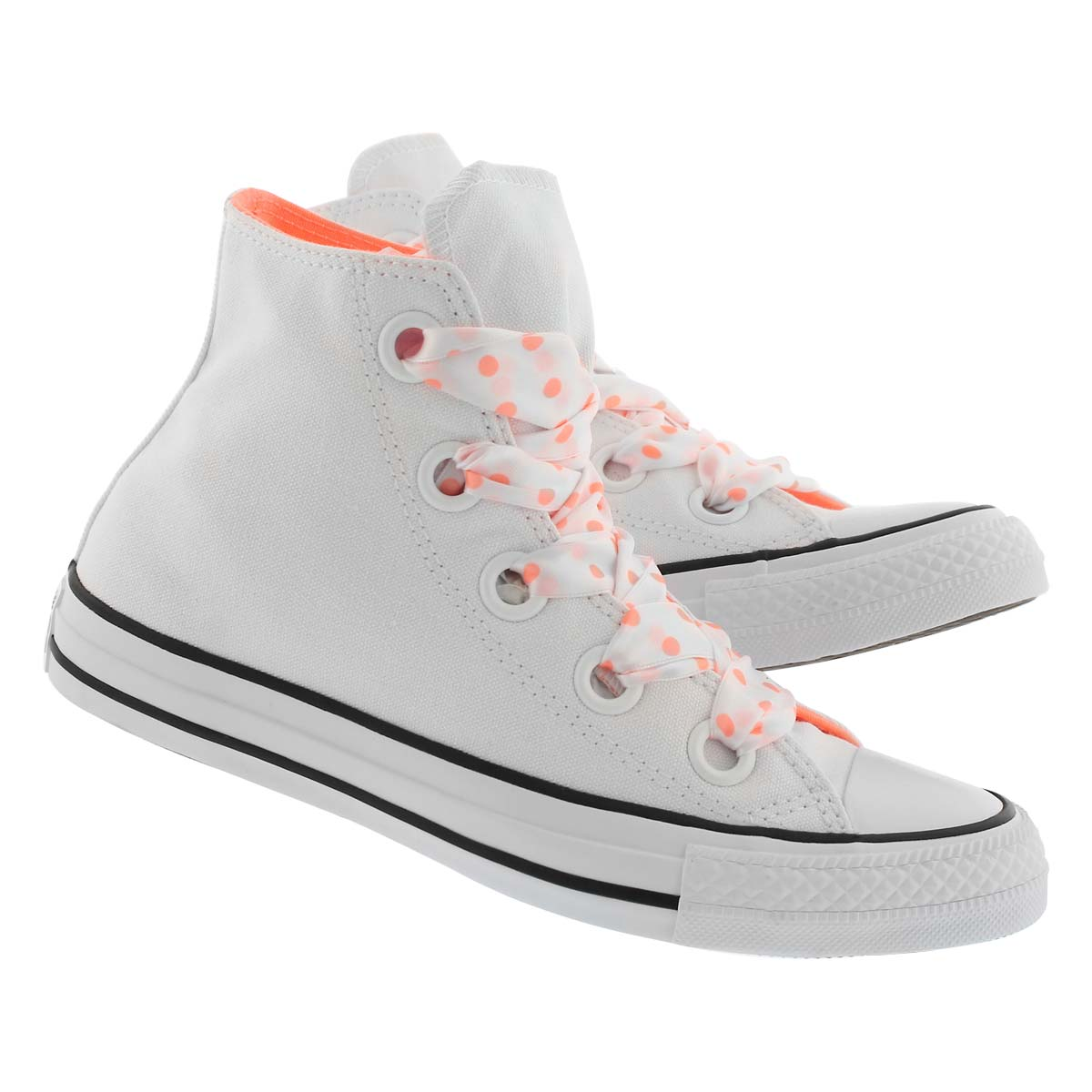 Lds CT A/S Big Eyelets wht/blk hi top